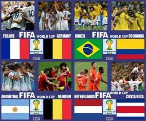 Układanka Ćwierćfinały, Brazylia 2014