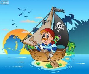 Układanka Łódź Pirat