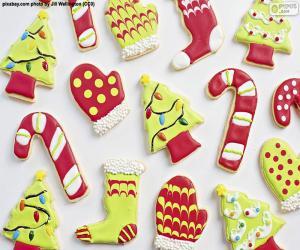 Układanka Ładne ciasteczka świąteczne