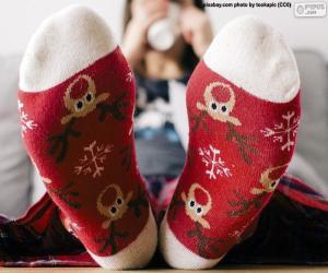 Układanka Ładne skarpetki świąteczne