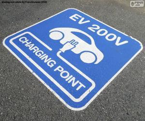 Układanka Ładowania samochodów elektrycznych