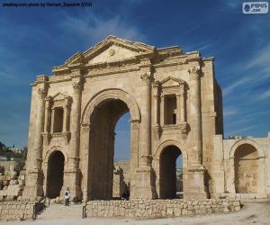 Układanka Łuk Hadriana, Jordania