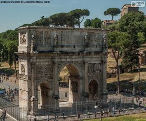 Układanka Łuk Konstantyna, Rome