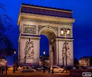 Układanka Łuk Triumfalny w Paryżu