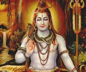 Układanka Śiwa - niszczyciel Boga w Trimurti, hinduskiej Trójcy
