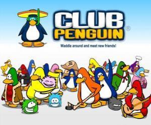 Układanka Śmieszne pingwiny z Club Penguin