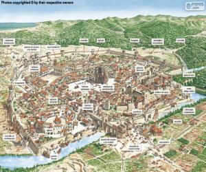 Układanka Średniowieczne miasto