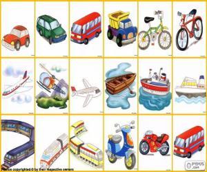 Układanka Środki transportu