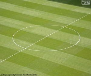 Układanka Środkowe kółko boisko do piłki nożnej