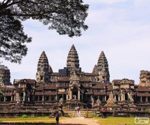 Układanka Świątynia Angkor Wat, Kambodża