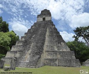 Układanka Świątynia I Tikal w Gwatemali
