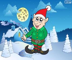 Układanka Świętego Mikołaja Elf