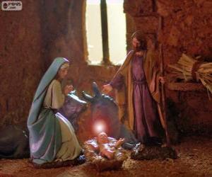 Układanka Świętej Rodziny w Wigilię