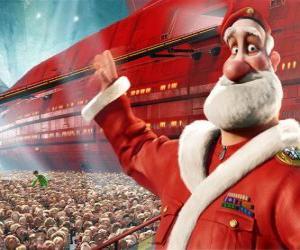 Układanka Święty Mikołaj czy Santa Claus, ojciec Arthur Boże Narodzenie