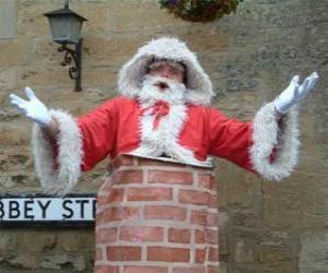Układanka Święty Mikołaj problemów przejść przez komin