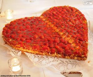 Układanka Święty Walenty ciasto
