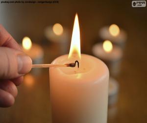 Układanka Światło świecy