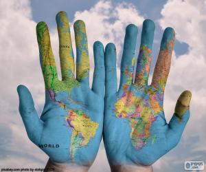 Układanka Świat w naszych rękach