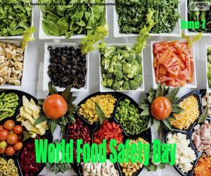 Układanka Światowy Dzień Bezpieczeństwa Żywności