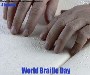 Układanka Światowy Dzień Braille'a