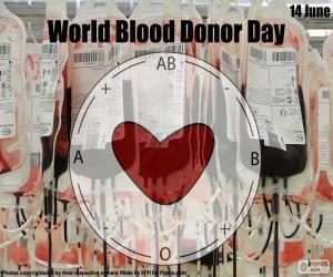 Układanka Światowy Dzień Krwiodawcy