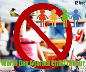 Układanka Światowy dzień przeciwko pracy dzieci
