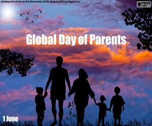 Układanka Światowy dzień rodziców