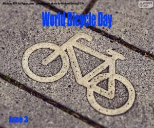 Układanka Światowy Dzień Roweru