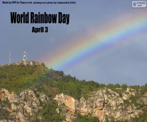 Układanka Światowy Dzień Tęczy
