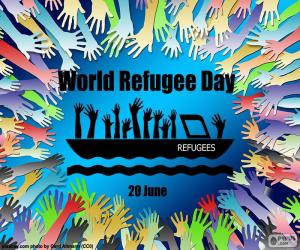 Układanka Światowy Dzień Uchodźcy