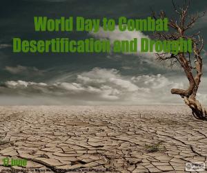 Układanka Światowy dzień walki z pustynnieniem
