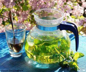 Układanka Świeża miętowa herbata