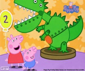 Układanka Świnka Peppa i dinozaura