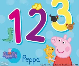Układanka Świnka Peppa i numery