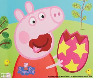 Układanka Świnka Peppa jedzenie jaj