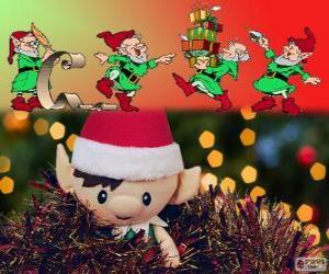 Układanka świąteczne elfy