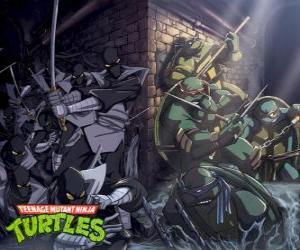 Układanka Żółwie ninja w działaniu