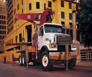 Układanka Żuraw Truck