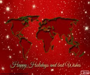 Układanka Życzenia bożonarodzeniowe, Mapa