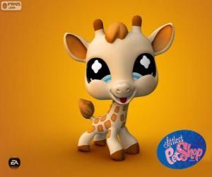 Układanka Żyrafa z Littlest PetShop