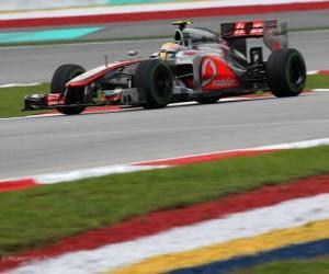Układanka (2012) Grand Prix Malezji Lewis Hamilton - McLaren-(3 stanowiska)