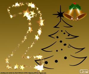 Układanka 2 Liczba Boże Narodzenie