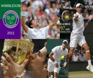 Układanka 2011 Wimbledon Champion Novak Djokovic