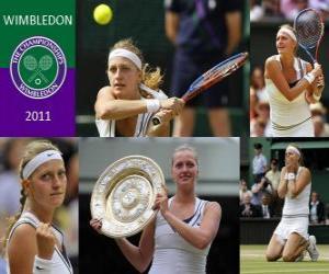 Układanka 2011 Wimbledon Champion Petra Kvitova
