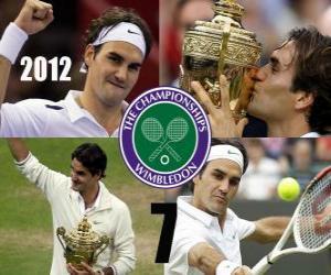 Układanka 2012 Wimbledon mistrz Roger Federer
