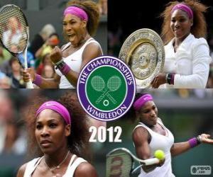 Układanka 2012 Wimbledon mistrz Serena Williams
