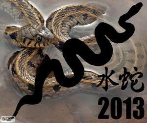 Układanka 2013 roku Wąż Wodny. Według chińskiego kalendarza z 10 lutego 2013 do dnia 30 stycznia 2014