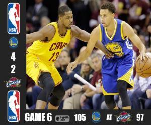 Układanka 2015 NBA Finals,  6 mecz