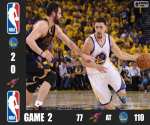 Układanka 2016 NBA Finals, 2 mecz