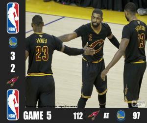 Układanka 2016 NBA Finals, 5 mecz